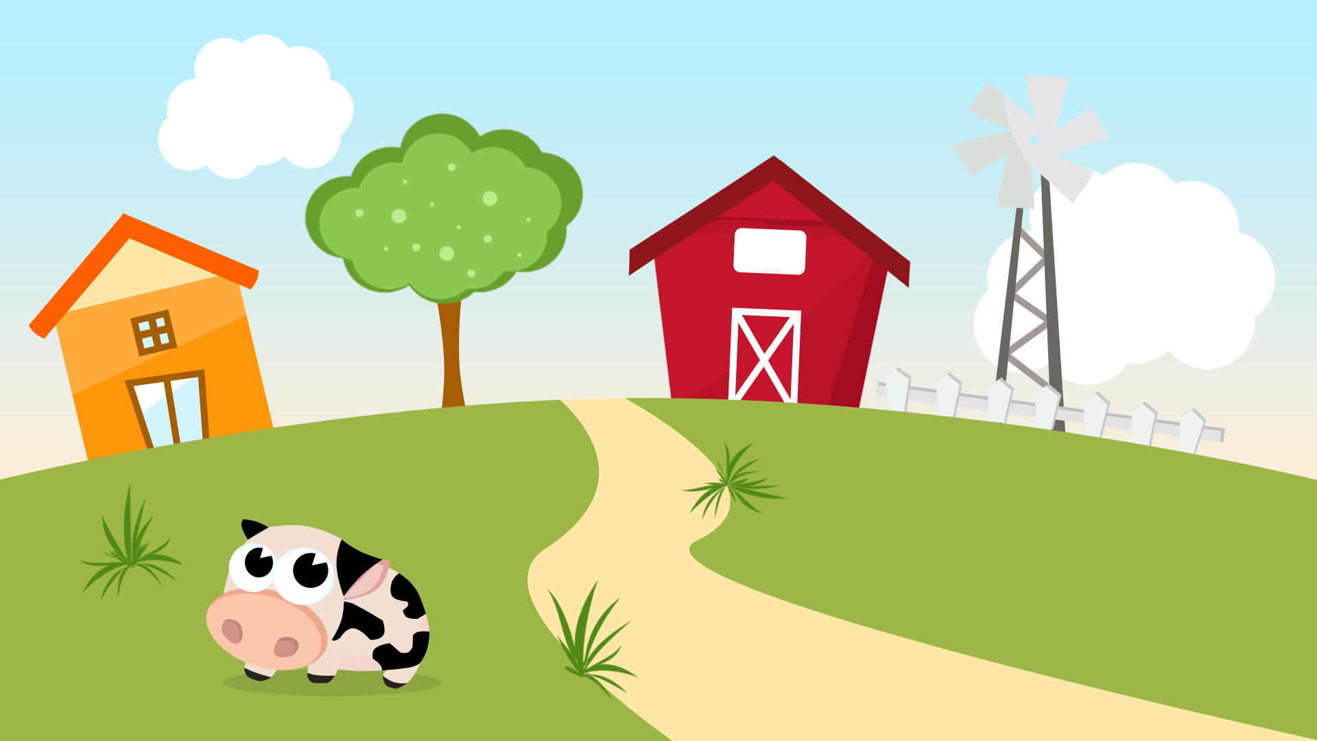 Happy Farm Landscape by Henry-Design on DeviantArt