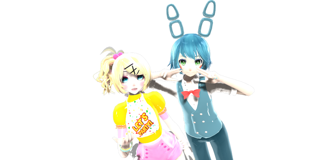 Toy Chica and Toy  Bonnie by NinditaSiAger2