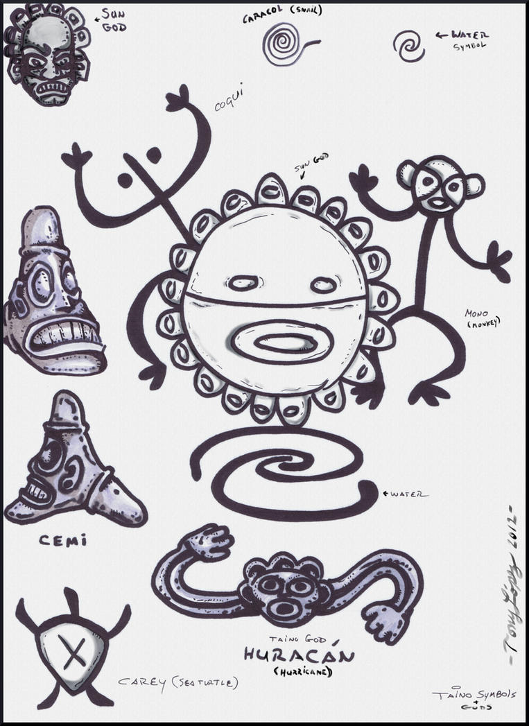 Taino Indian Symbolsgods By Lpsalsaman On Deviantart
