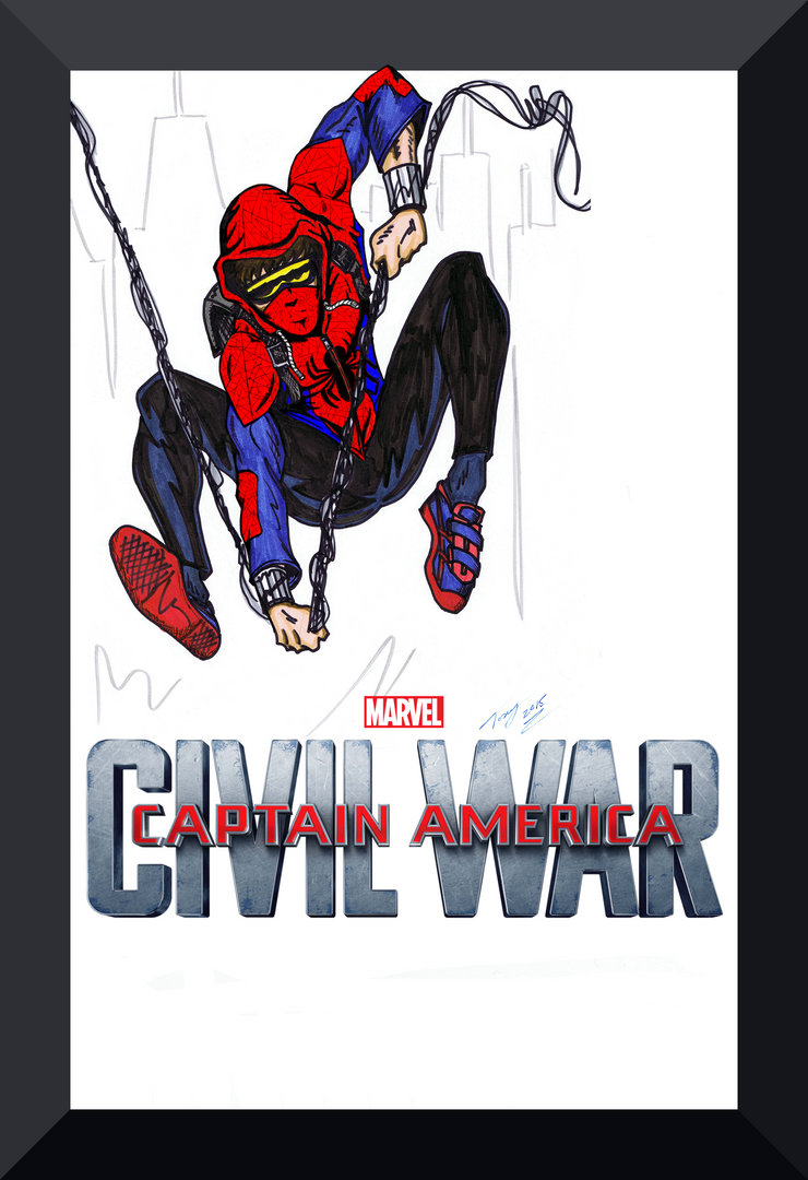 Civil War Spider-Man with Possible Movie Hoodie! by Lpsalsaman