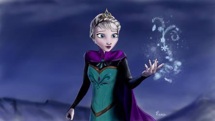 Queen Elsa, from Disney's Frozen by sgnaFP