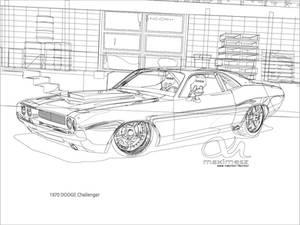 1970 Dodge Challenger Outline