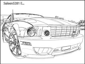 Saleen Mustang Outline