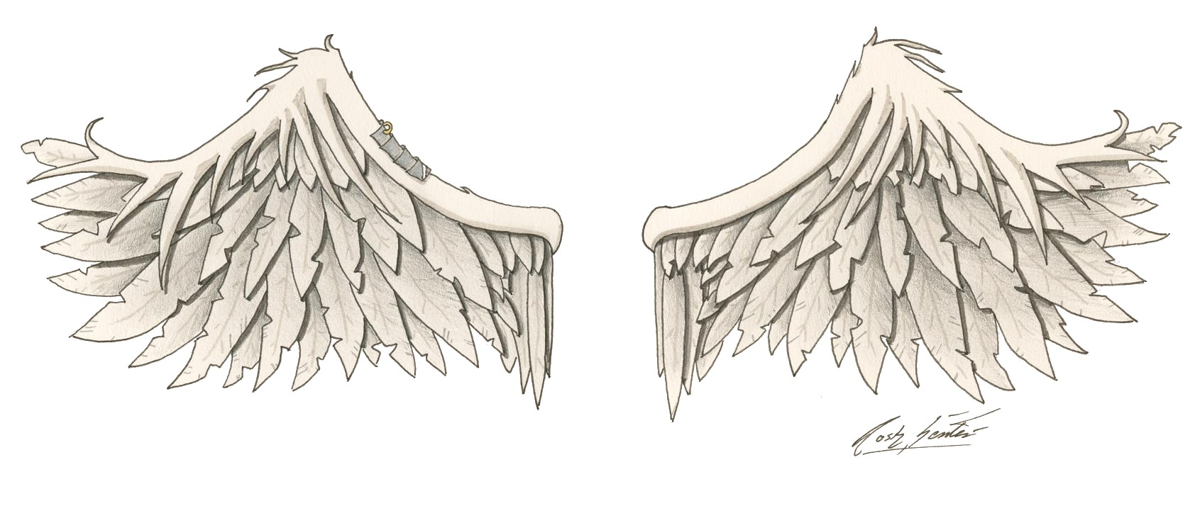 Wing tattoo design - Wing Tattoo Design By Jasflip Wing Tattoo Design By Jasflip