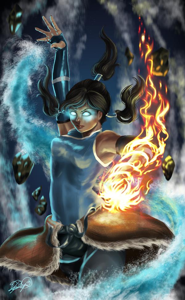Korra- Avatar State by Lualapin on DeviantArt Aang Avatar State Korra