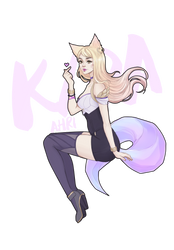 K/DA Ahri (SPEEDPAINT VIDEO) by Bakaruru