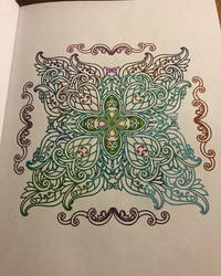 Colouring book - Mehndi - coloring for everyone by DragonFly188