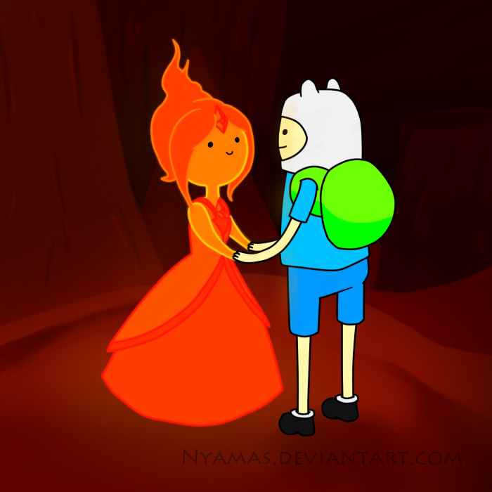 Finn and Flame Princess by Nyamas on DeviantArt