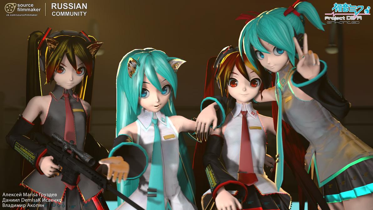 Anime Characters For Gmod : Miku hatsune enhanced pack v by gruzdev on deviantart