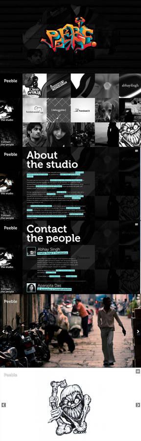 Peeble Website Design