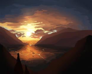 Toho Sunset by aysdeer