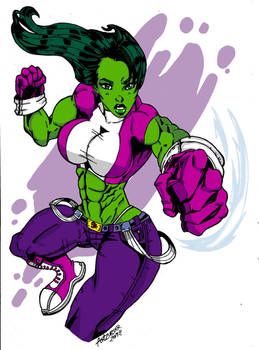 She Hulk: GAMMA PUNCH!!