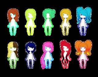 Hairstyle Adopt Set 1 by FreeFlyingAngel