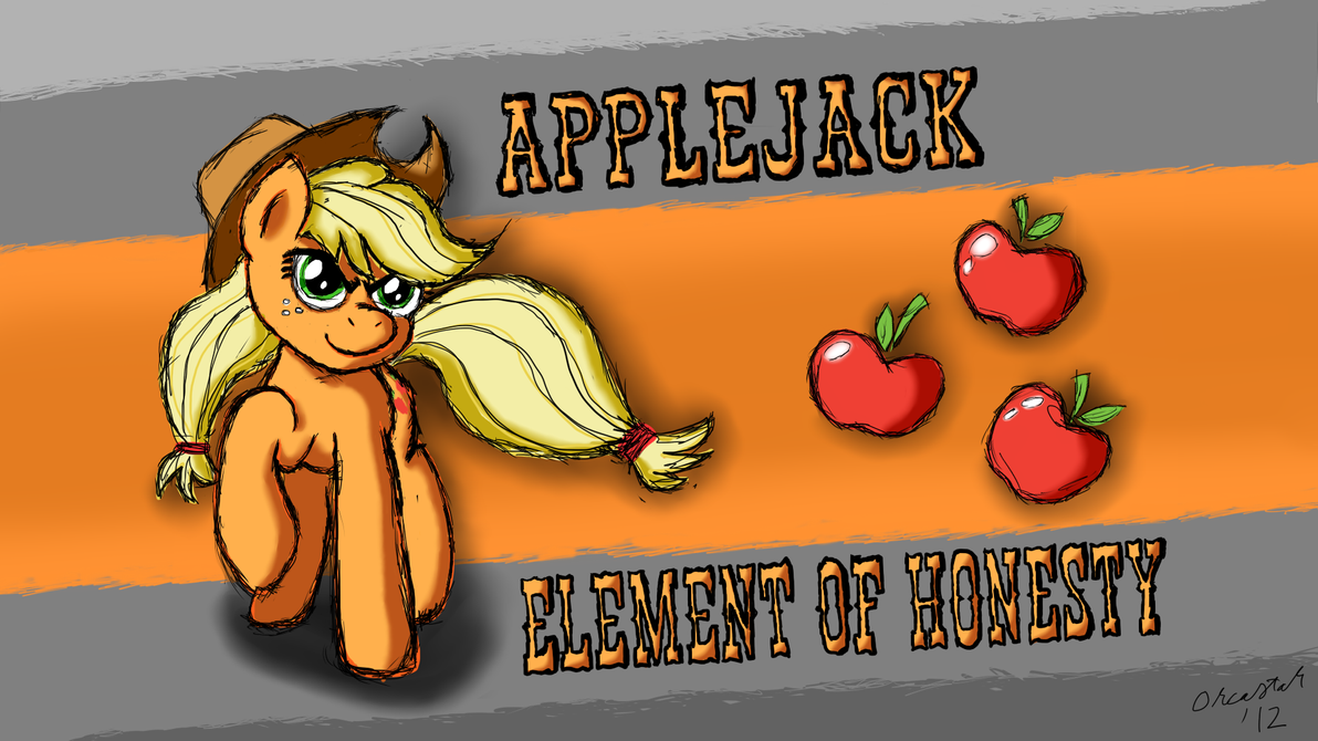 Applejack, element of honesty by StarOrca