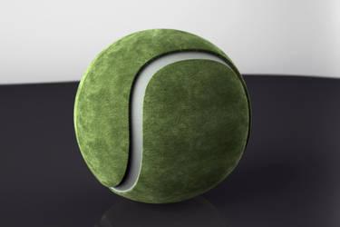Tennis ball by Kruczkowska