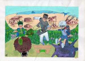 Gon, Ging and Killua goes to the Dark Continent!