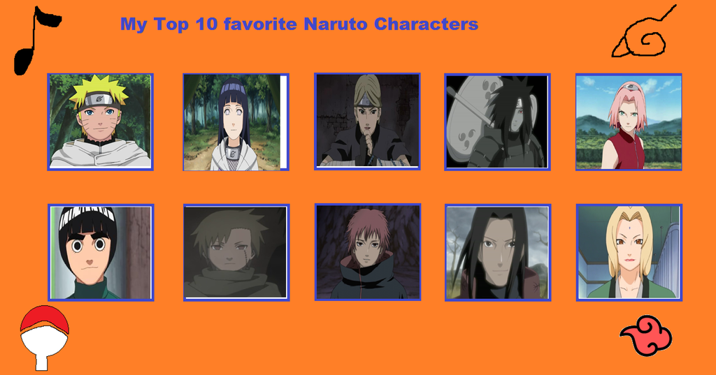 My Top 10 Favorite Naruto Characters (redo) by ... Gaara And Rock Lee