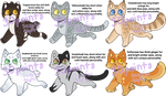 30 Point Kitties (6/6) OPEN by SissyFoxsAdopts
