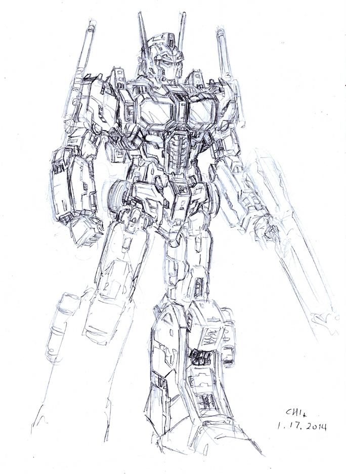 Optimus Prime 2014 by cwmodels