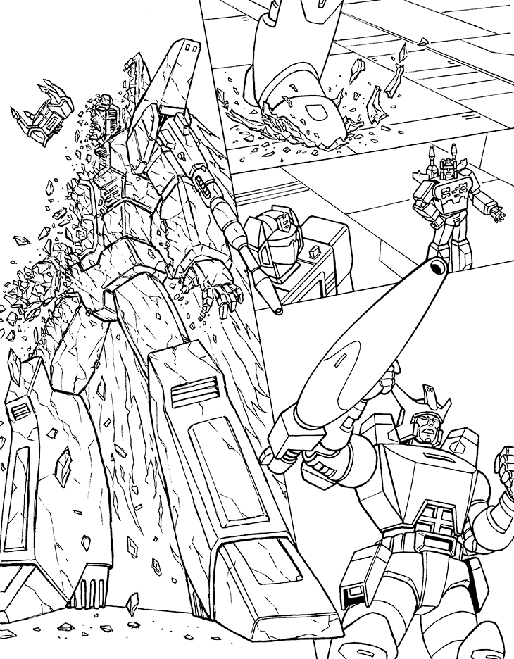 Starscream G.O.T.P. page line art by cwmodels