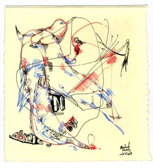 MultiColor Abstract Drawing 6 by herring