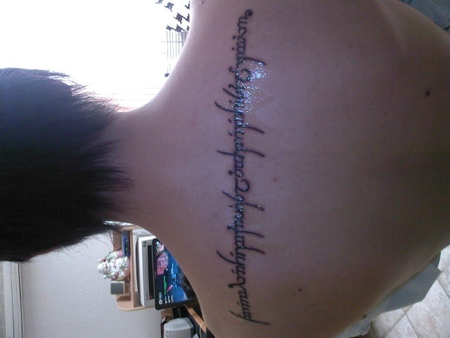 Elvish Writing Tattoo