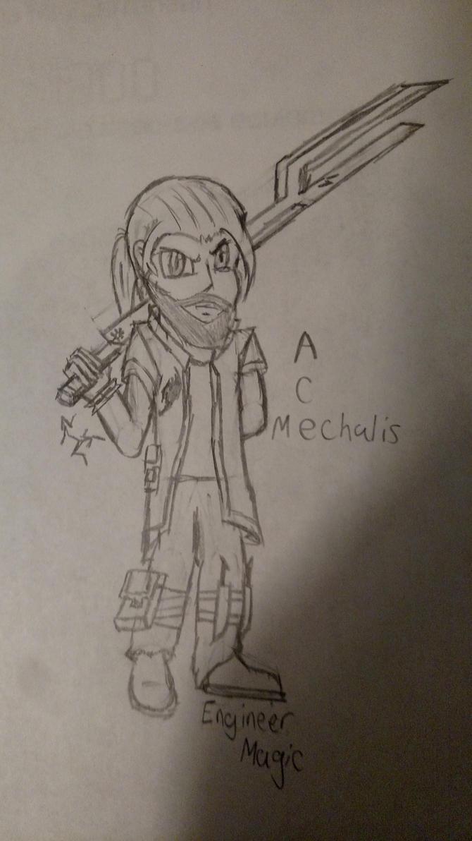 Fairy Tail - Ace Mechalis by Frozenvolf