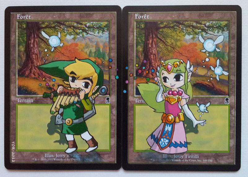 Forest cards, feat. Link and Zelda (Wind Waker) by Didjam