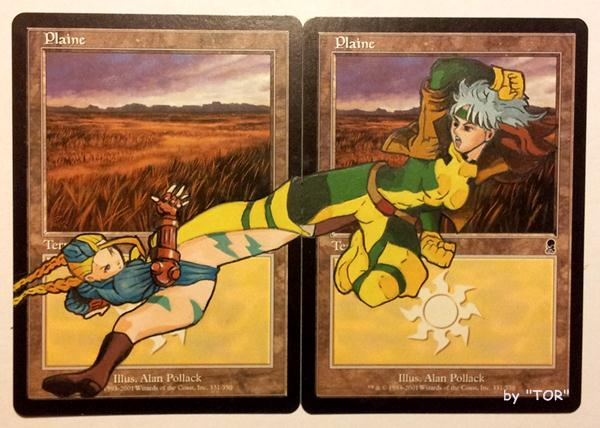 Plains cards, Cammy VS Rogue, Crossover by Toriy-Alters