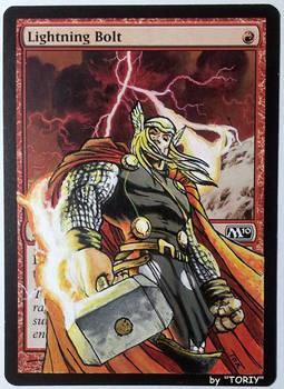 Lightning Bolt, feat. Thor (Marvel Comics Fan Art)