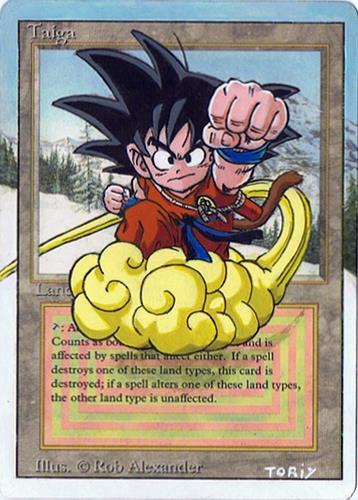 Son Goku flying on Taiga by Didjam