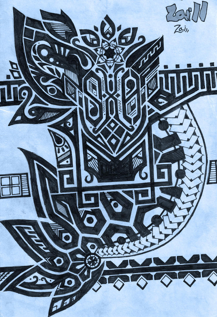 Tribal Mixed Style Tattoo #001 by OrionzaSh