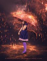 Rain and my Umbrella by umbatman