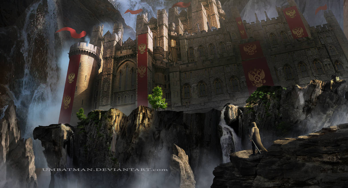 Castle in the mountains by umbatman