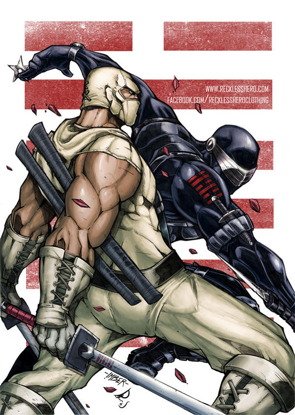 Snake Eyes and Storm Shadow by RecklessHero