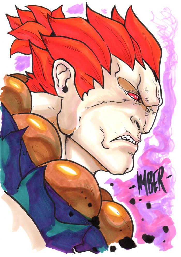 Akuma Marker Sketch(1) by RecklessHero