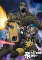 Rocket Raccoon and Groot by RecklessHero