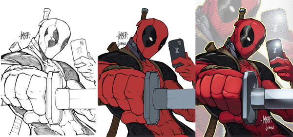 Deadpool Selfie Stages by RecklessHero