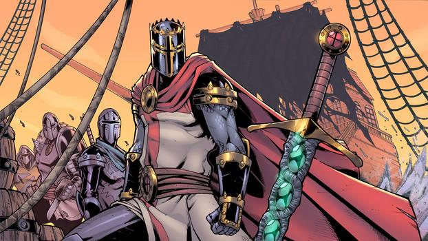 Knights vs. Pirates Banner