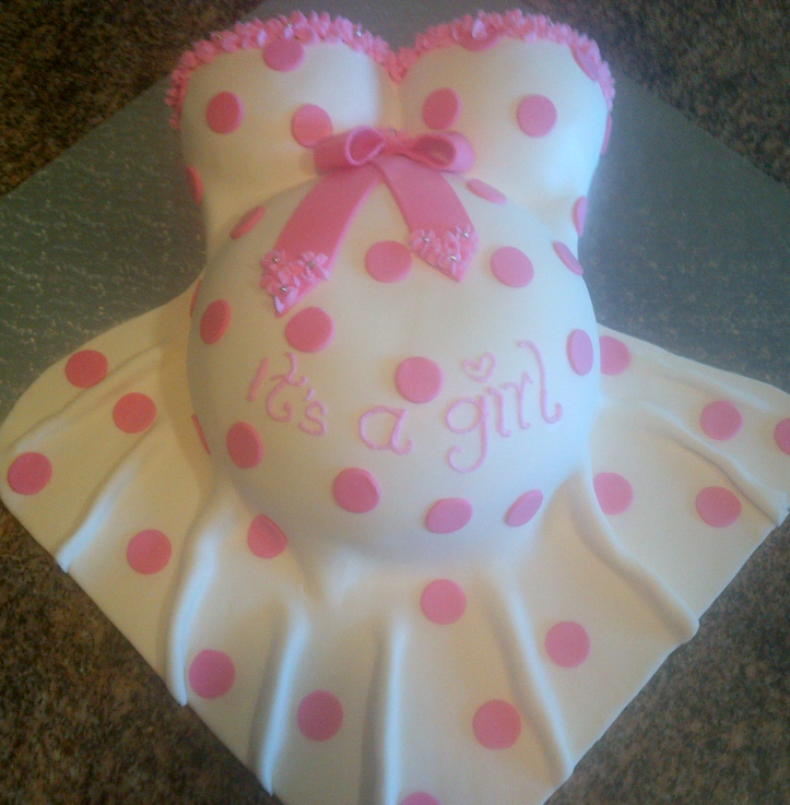 how to make pregnant belly cake