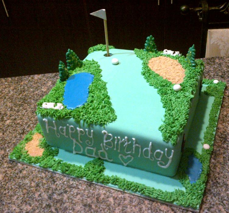 Cake Artist Course : Golf Course Cake by Lucrecia1511 on deviantART