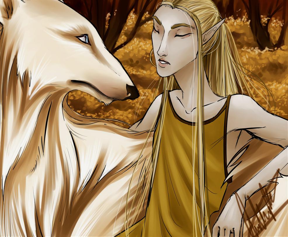 Celegorm and Huan by Grand-Maggot