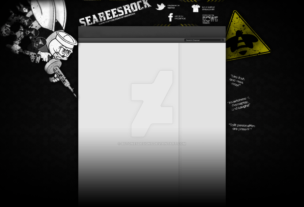 SeaBeesRock - YouTube Background by BstonesDesigns