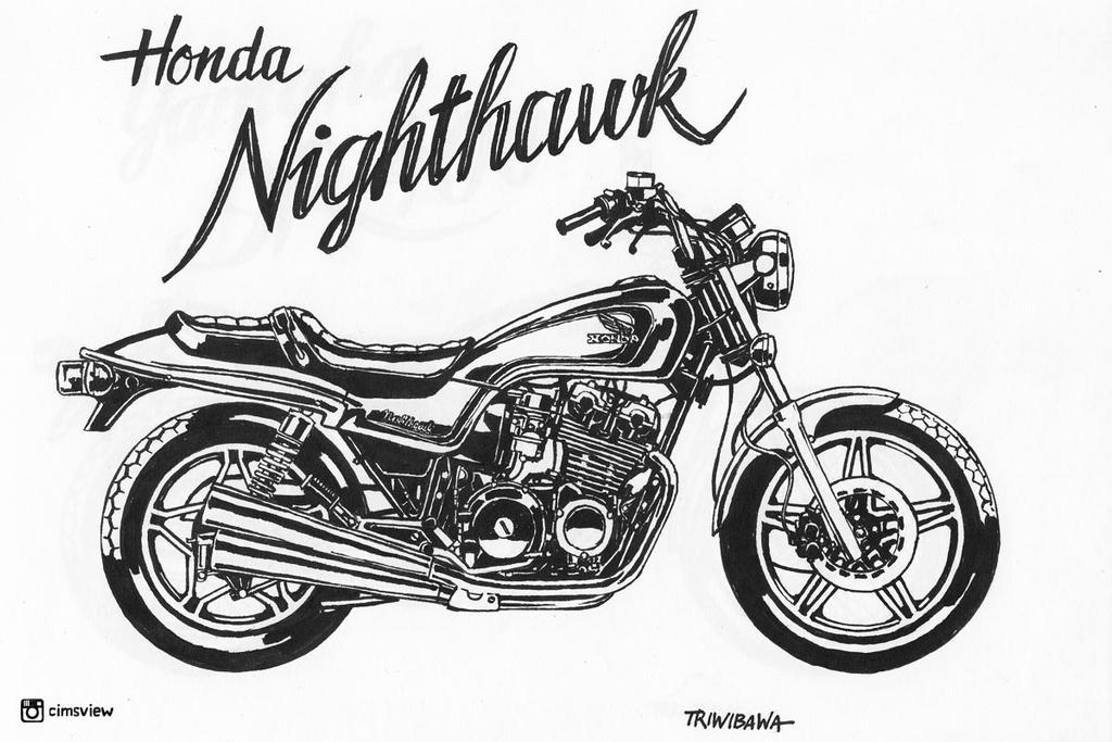 honda nighthawk by antocimots on deviantart