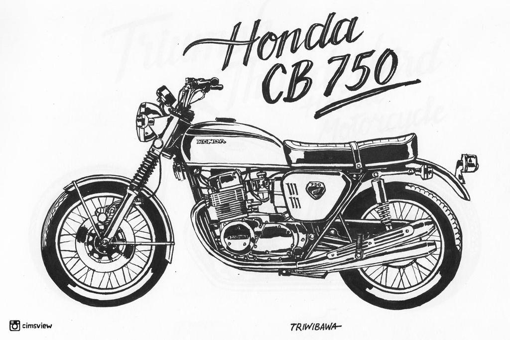 honda cb 750 by antocimots on deviantart