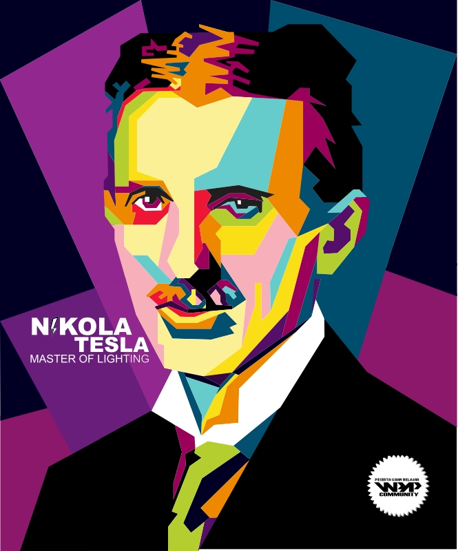 Nikola Tesla Wallpapers 35 Wallpapers: Nikola Tesla In WPAP (Indonesian Pop Art) By 4Hart On