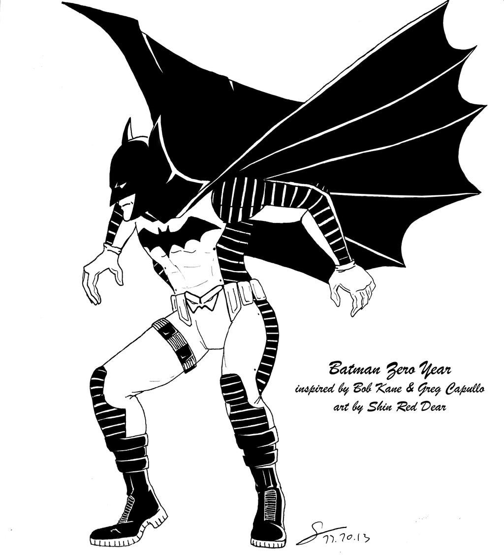 Batman Zero Year Tribute Black and White ver by ...