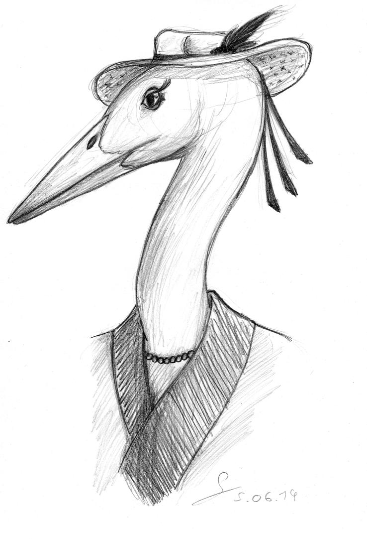 Lady Crane (June 2014) by ShinRedDear