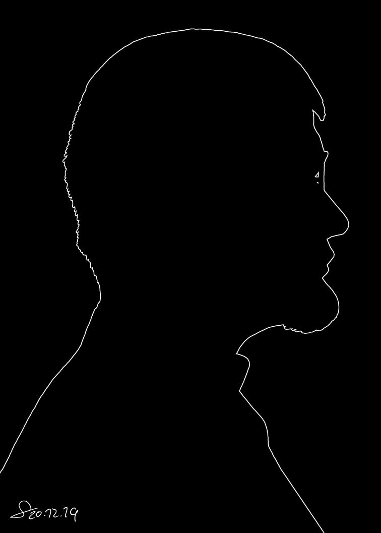 Cut-out profile Autoportrait V2 by ShinRedDear