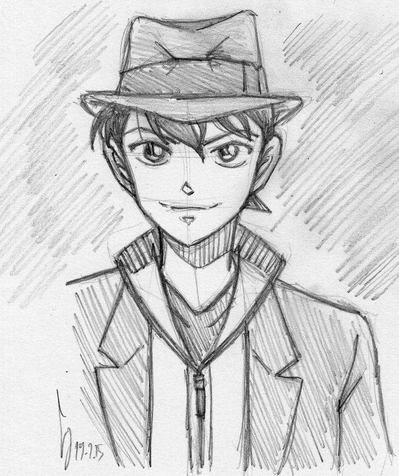 DC: Smart Casual Shinichi Doodle by ShinRedDear